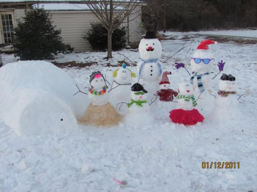 The Family Snow People - by Bobby Green